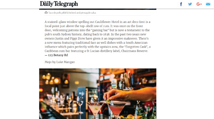 image of The Cauliflower Hotel featured on Daily Telegraph